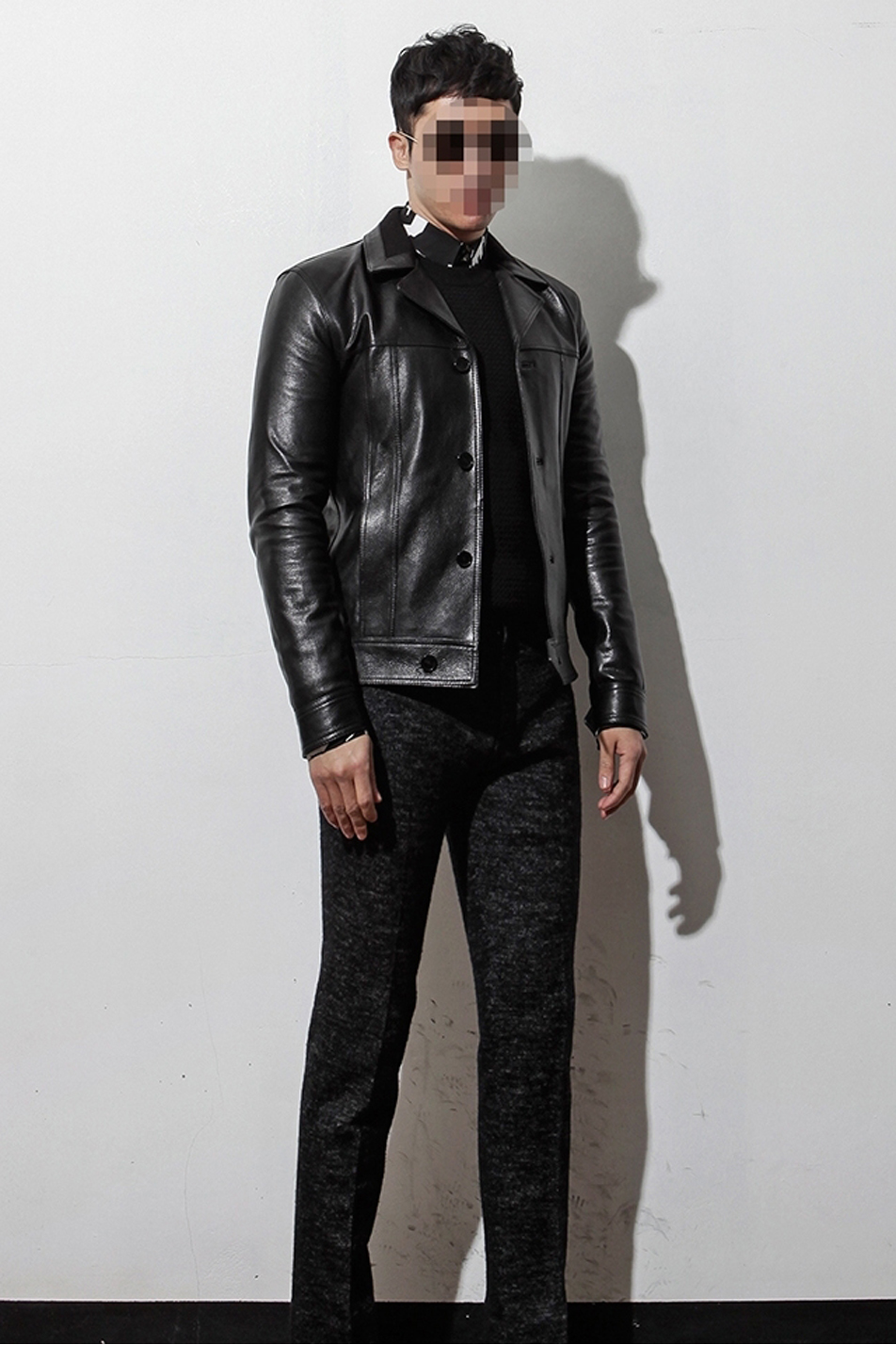 89d8b7167 SAINT LAURENT Inspired Goat Skin Leather Jacket